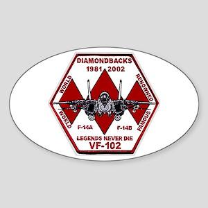 VF 102 Diamondbacks Sticker (Oval 10 pk)