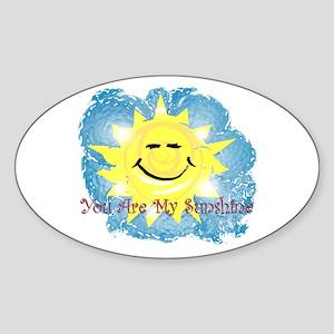 Summertime Oval Sticker (10 pk)