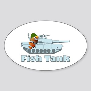 Fish Tank Oval Sticker (10 pk)