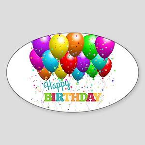 Trendy Happy Birthday Balloons Sticker