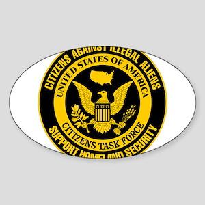 Citizens Against Illegal Aliens Sticker (Rectangul