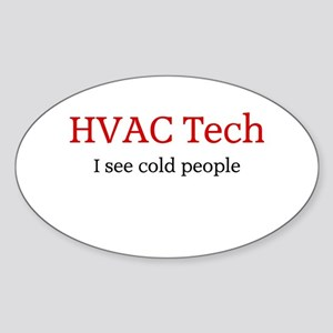 HVAC Oval Sticker (10 pk)