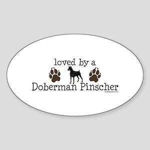 Loved by a doberman pinascher Sticker