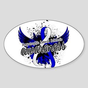 ALS Awareness 16 Sticker (Oval 10 pk)