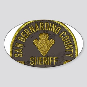 San Bernardino County Sheriff patch Sticker (Oval