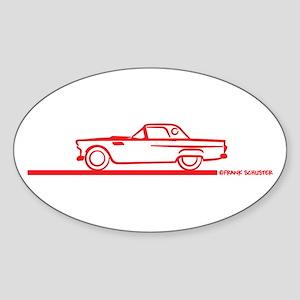 55 T Bird Top Up Oval Sticker (10 pk)
