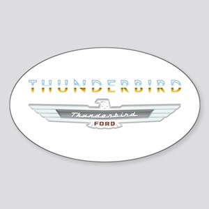 Ford Thunderbird Emblem Orange Chrome Sticker (Ova