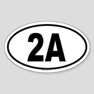 2A Oval Sticker
