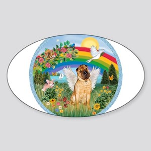 Rainbow - Shar Pei 2 Sticker (Oval 50 pk)