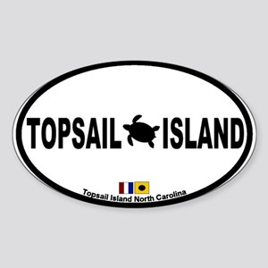 Topsail Island NC - Oval Design Sticker