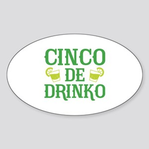 Cinco De Drinko Sticker (Oval 50 pk)