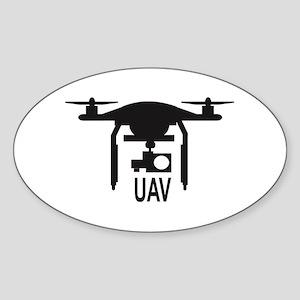 UAV Drone Silhouette Sticker