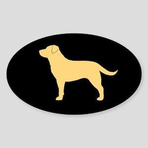 Yellow Lab Sticker (Oval 50 pk)