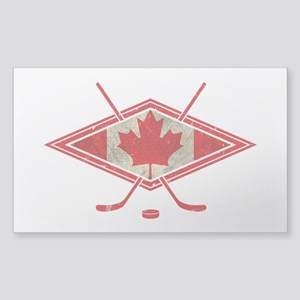 Canadian Hockey Flag Sticker