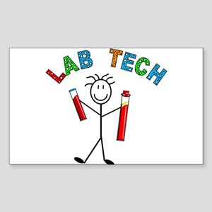 Microbiology/Lab Sticker (Rectangle 10 pk)