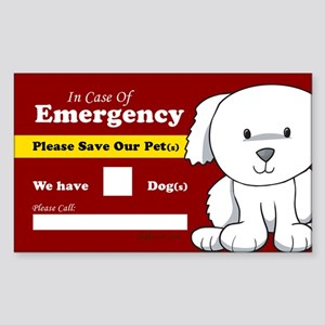 Emergency We Have Dogs Rectangle Sticker 10 pk)
