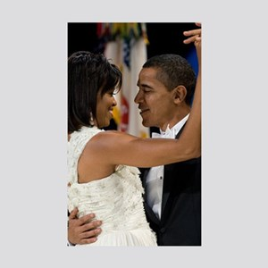 Barack and Michele Obama Sticker (Rectangle 10 pk)