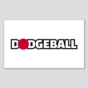 Dodgeball Sticker (Rectangle 10 pk)