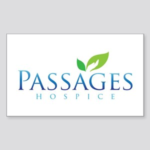 Passages Hospice Logo Sticker (Rectangle 10 pk)
