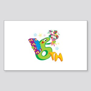 6th Celebration Sticker (Rectangle 10 pk)