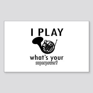 Cool French Horn Designs Sticker (Rectangle 10 pk)