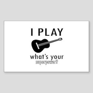Cool Guitar Designs Sticker (Rectangle 10 pk)