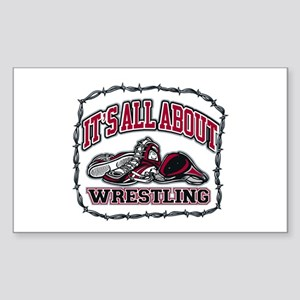 It's All About Wrestling Sticker (Rectangle 10 pk)