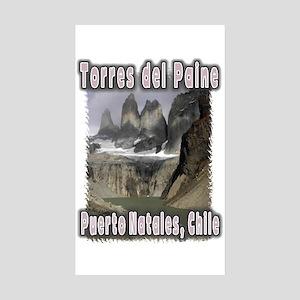 Torres del Paine Rectangle Sticker 10 pk)