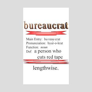 Bureaucracy Defined Sticker (Rectangle 10 pk)