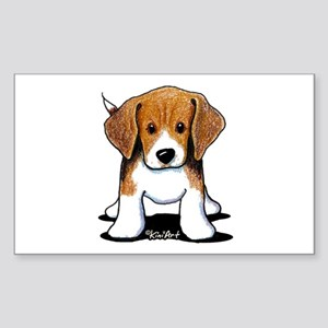 Beagle Puppy Sticker (Rectangle 10 pk)