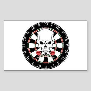 Dart Pirate Rectangle Sticker 10 pk)