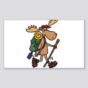 Moose Hiking Sticker
