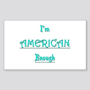 American Enough tee Sticker