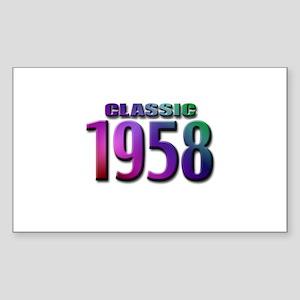 Classic 1958 Rectangle Sticker 10 pk)