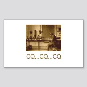 CQ...CQ...CQ Sticker (Rectangle 10 pk)
