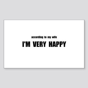 Wife Happy Sticker (Rectangle 10 pk)