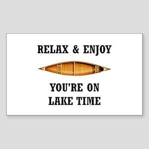 On Lake Time Sticker