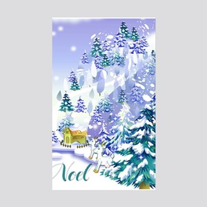 Goat Winter Noel Sticker (Rectangle 10 pk)