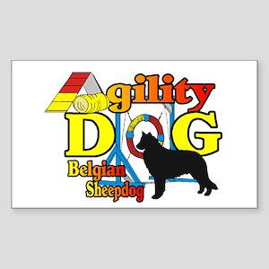 Belgian Sheepdog Agility Sticker (Rectangle 10 pk)