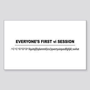 vi Session Rectangle Sticker 10 pk)