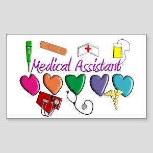 Medical Assistant Sticker (Rectangle 10 pk)