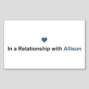 Allison Relationship Rectangle Sticker 10 Pack