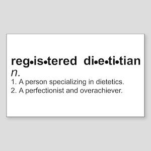 Registered Dietitian Rectangle Sticker 10 pk)