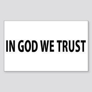 In God We Trust Sticker