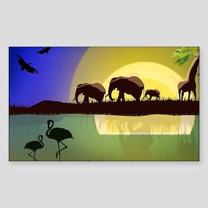 Animals African Landscape Sticker