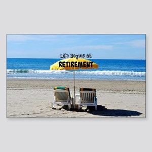 Life Begins at Retirement...sitting on the beach S