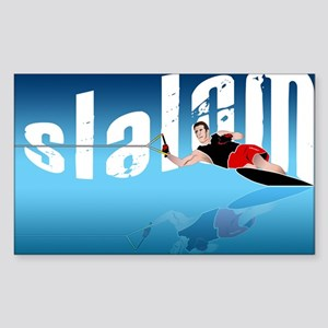 Slalom WaterSkier Rectangle Sticker 10 pk)