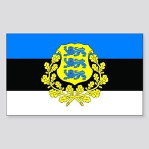 Estonia w/ coat or arms Rectangle Sticker