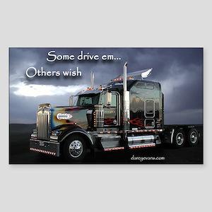 Truckers Rectangle Sticker