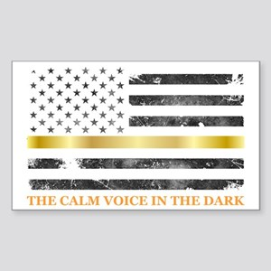 Thin Yellow Line - Thin Gold Line Sticker
